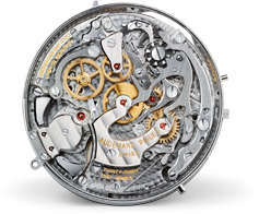 back side of the Tradition tourbillon chronograph